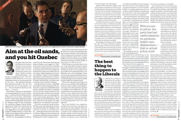 Article Preview: Aim at the oil sands, and you hit Quebec, FEB. 22nd 2010 | Maclean's