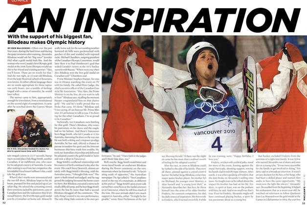Article Preview: AN INSPIRATION, MAR. 1st 2010 2010 | Maclean's