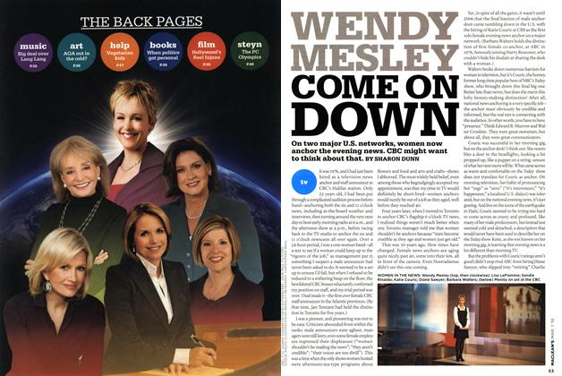 Article Preview: WENDY MESLEY COME ON DOWN, MAR. 1st 2010 | Maclean's