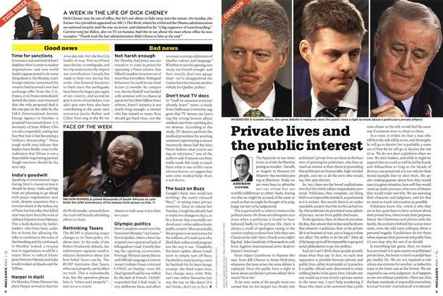Article Preview: Private lives and the public interest, MAR. 1st 2010 | Maclean's