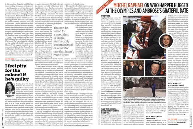 Article Preview: I feel pity for the colonel if he's guilty, MAR. 1st 2010 | Maclean's