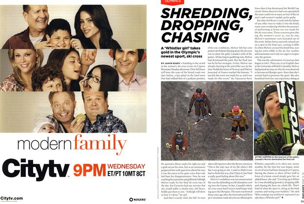 Article Preview: SHREDDING, DROPPING, CHASING, MAR. 8th 2010 | Maclean's