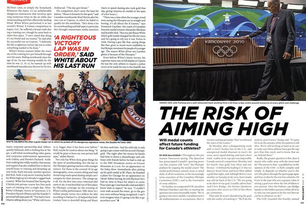 Article Preview: THE RISK OF AIMING HIGH, MAR. 8th 2010 | Maclean's