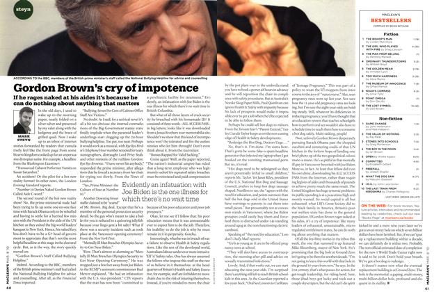 Article Preview: Gordon Brown's cry of impotence, MAR. 8th 2010 | Maclean's