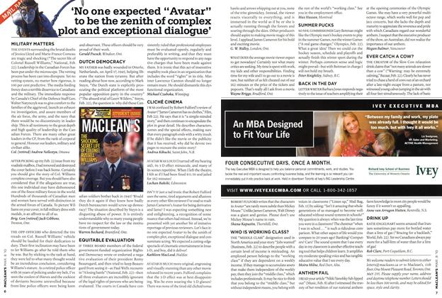 "Article Preview: 'No one expected ""Avatar"" to be the zenith of complex plot and exceptional dialogue', MAR. 8th 2010 