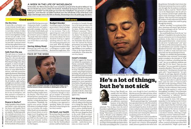 Article Preview: He's a lot of things, but he's not sick, MAR. 8th 2010 | Maclean's