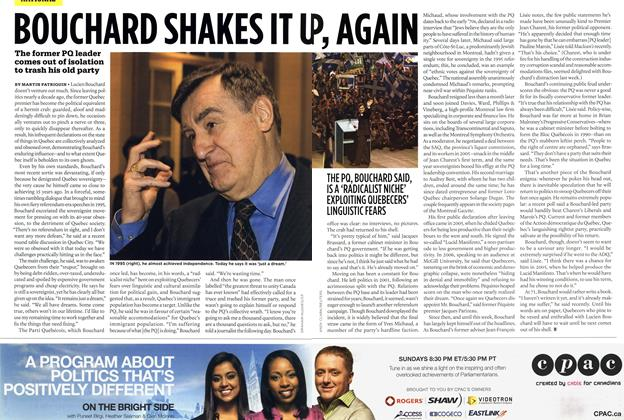 Article Preview: BOUCHARD SHAKES IT UP, AGAIN, MAR. 8th 2010 | Maclean's
