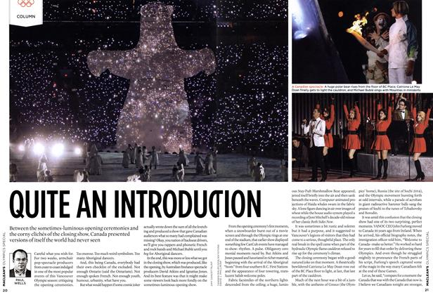 Article Preview: QUITE AN INTRODUCTION, MAR. 15th 2010 | Maclean's