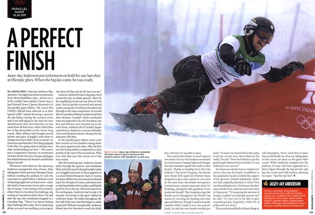 Article Preview: A PERFECT FINISH, MAR. 15th 2010 2010 | Maclean's