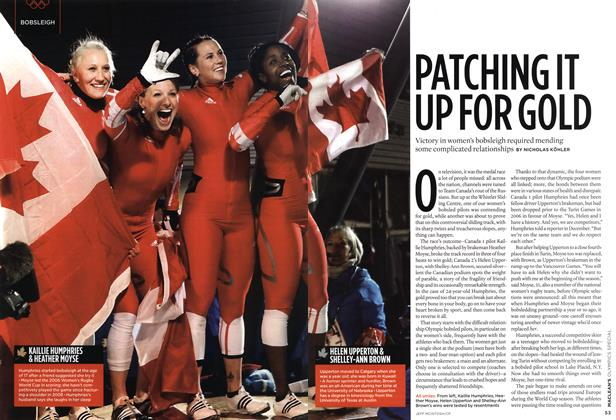 Article Preview: PATCHING IT UP FOR GOLD, MAR. 15th 2010 | Maclean's
