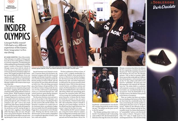 Article Preview: THE INSIDER OLYMPICS, MAR. 15th 2010 2010 | Maclean's