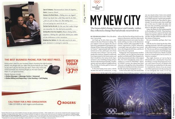 Article Preview: MY NEW CITY, MAR. 15th 2010 | Maclean's