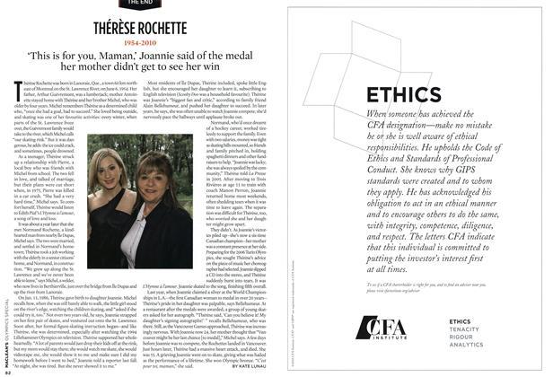 Article Preview: THÉRÈSE ROCHETTE, MAR. 15th 2010 2010 | Maclean's