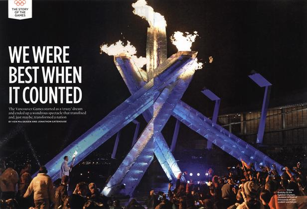 Article Preview: WE WERE BEST WHEN IT COUNTED, MAR. 15th 2010 2010 | Maclean's