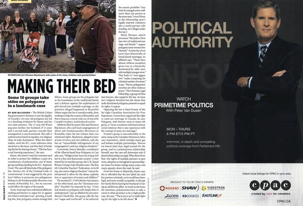 Article Preview: MAKING THEIR BED, MAR. 22nd 2010 | Maclean's
