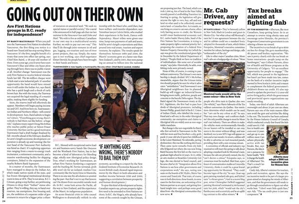 Article Preview: GOING OUT ON THEIR OWN, MAR. 22nd 2010 | Maclean's