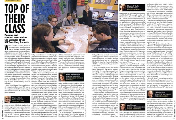 Article Preview: TOP OF THEIR CLASS, MAR. 22nd 2010 | Maclean's