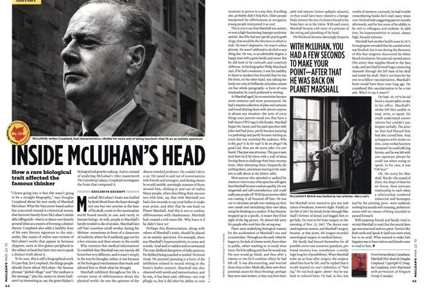 Article Preview: INSIDE McLUHAN'S HEAD, MAR. 22nd 2010 | Maclean's