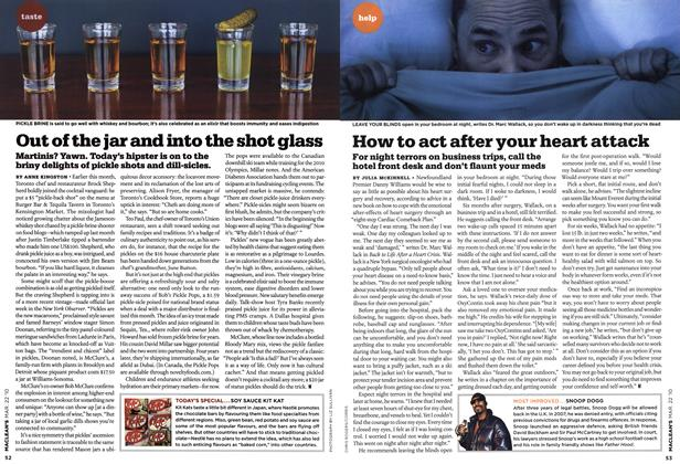 Article Preview: Out of the jar and into the shot glass, MAR. 22nd 2010 2010 | Maclean's