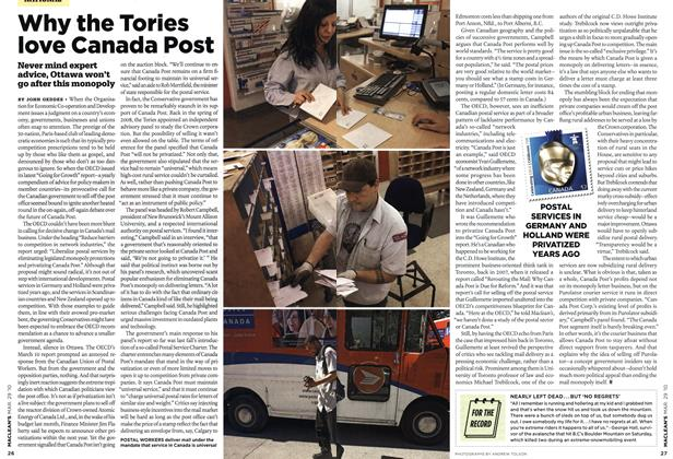 Article Preview: Why the Tories love Canada Post, MAR. 29th 2010 | Maclean's