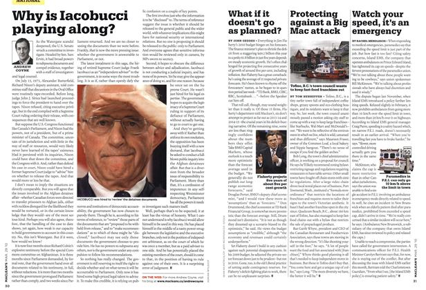 Article Preview: Why is Iacobucci playing along?, MAR. 29th 2010 | Maclean's
