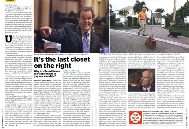 Article Preview: It's the last closet on the right, MAR. 29th 2010 | Maclean's
