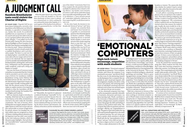 Article Preview: A JUDGMENT CALL, MAR. 29th 2010 | Maclean's
