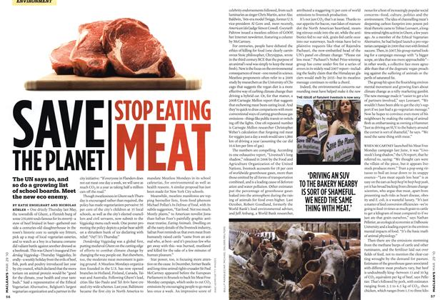 Article Preview: SAVE THE PLANET STOP EATING MEAT, MAR. 29th 2010 | Maclean's