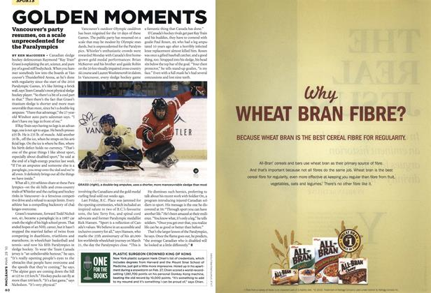 Article Preview: GOLDEN MOMENTS, MAR. 29th 2010 | Maclean's