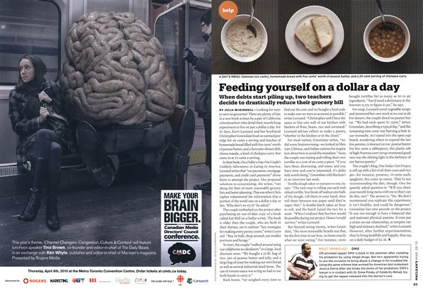 Article Preview: Feeding yourself on a dollar a day, MAR. 29th 2010 | Maclean's