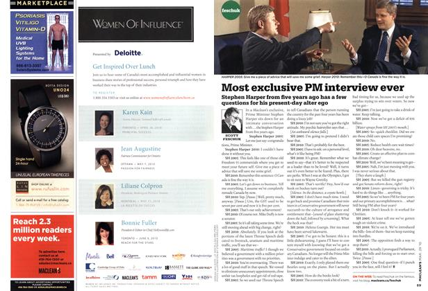 Article Preview: Most exclusive PM interview ever, MAR. 29th 2010 | Maclean's