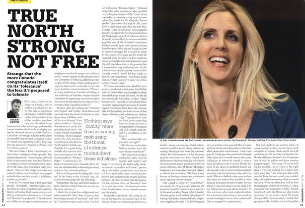 Article Preview: TRUE NORTH STRONG NOT FREE, APR. 12th 2010 | Maclean's