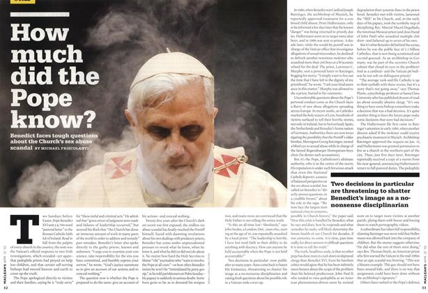 Article Preview: How much did the pope know?, APR. 12th 2010 | Maclean's