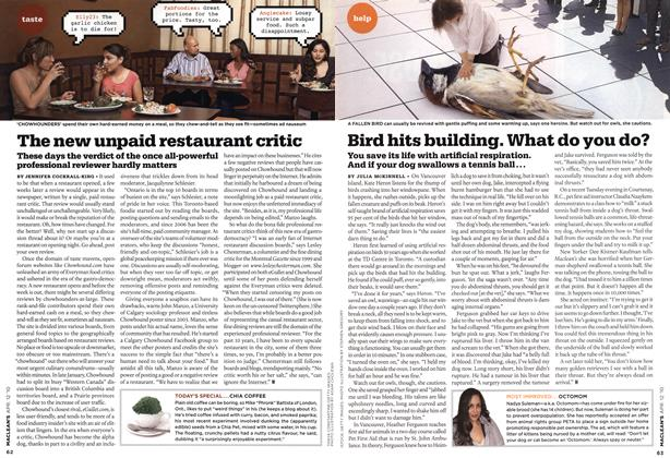 Article Preview: The new unpaid restaurant critic, APR. 12th 2010 | Maclean's