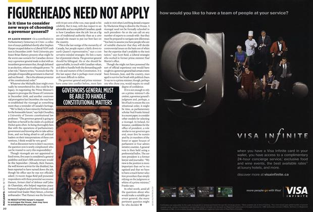 Article Preview: FIGUREHEADS NEED NOT APPLY, APR. 19th 2010 | Maclean's