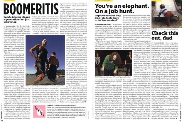 Article Preview: You're an elephant. On a job hunt., APR. 19th 2010 | Maclean's