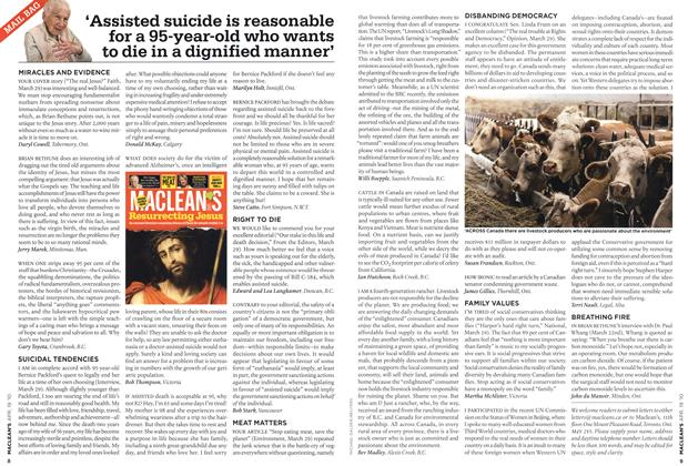 Article Preview: 'Assisted suicide is reasonable for a 95-year-old who wants to die in a dignified manner', APR. 19th 2010 | Maclean's