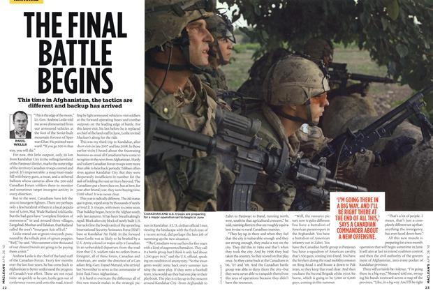 Article Preview: THE FINAL BATTLE BEGINS, APR. 26th 2010 2010 | Maclean's