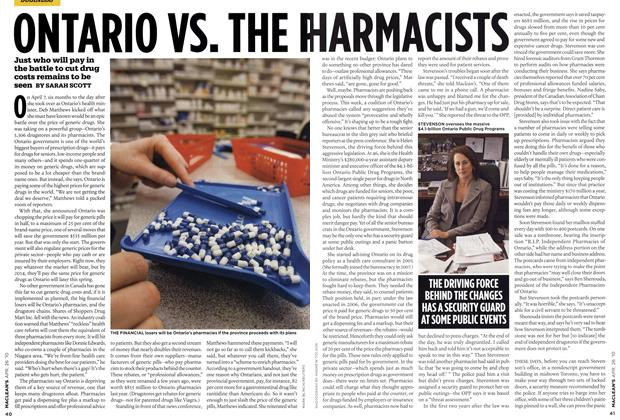Article Preview: ONTARIO VS. THE PHARMACISTS, APR. 26th 2010 2010 | Maclean's