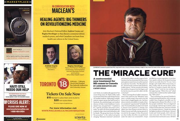 Article Preview: THE 'MIRACLE CURE', APR. 26th 2010 | Maclean's