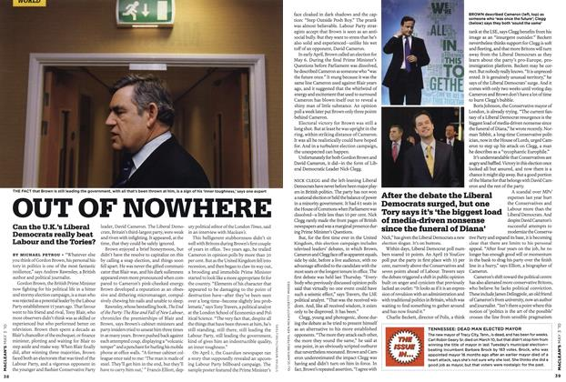 Article Preview: OUT OF NOWHERE, MAY 3rd 2010 2010 | Maclean's