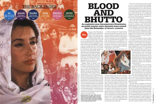 Article Preview: BLOOD AND BHUTTO, MAY 3rd 2010 | Maclean's