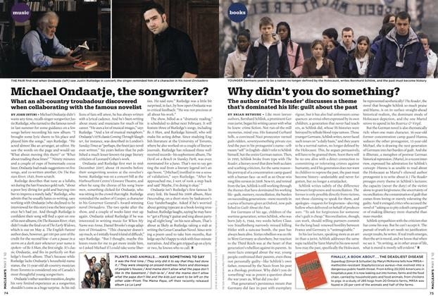 Article Preview: Michael Ondaatje, the songwritex?, MAY 3rd 2010 | Maclean's