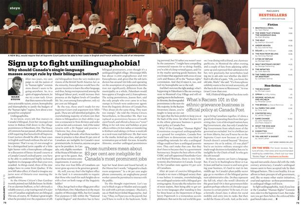 Article Preview: Sign up to fight unilinguaphobia!, MAY 3rd 2010 2010 | Maclean's