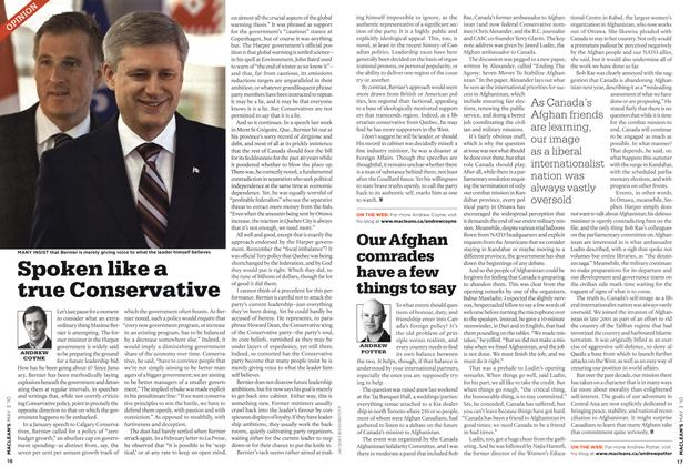 Article Preview: Spoken like a true Conservative, MAY 3rd 2010 | Maclean's