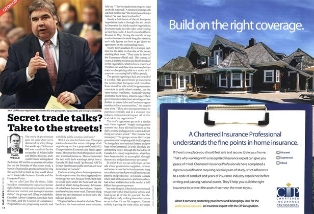 Article Preview: Secret trade talks? Take to the streets!, MAY 10th 2010 | Maclean's