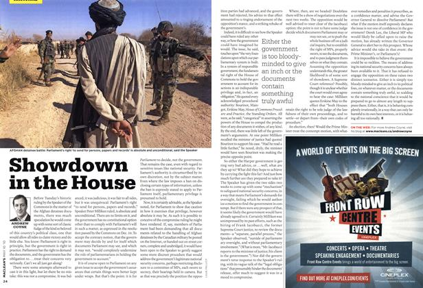 Article Preview: Showdown in the House, MAY 10th 2010 | Maclean's