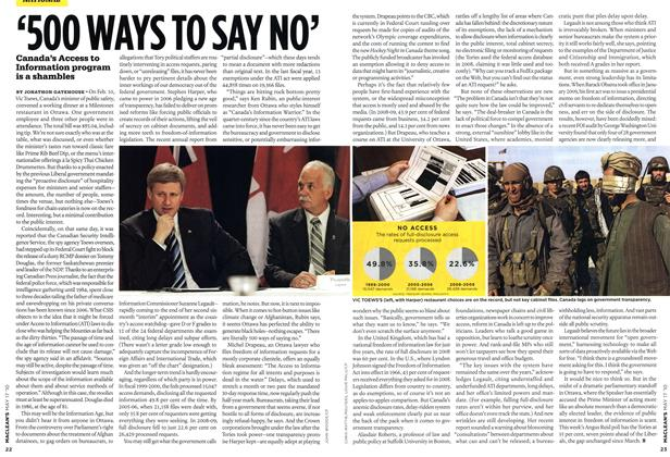 Article Preview: '500 WAYS TO SAY NO', May 17th 2010 | Maclean's