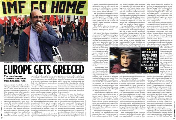 Article Preview: EUROPE GETS GREECED, May 17th 2010 | Maclean's