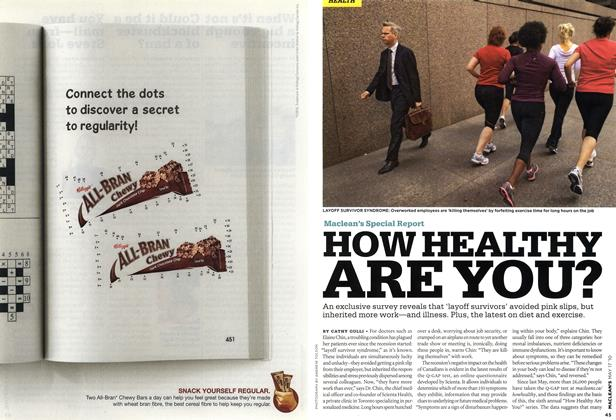 Article Preview: HOW HEALTHY ARE YOU?, May 17th 2010 2010 | Maclean's